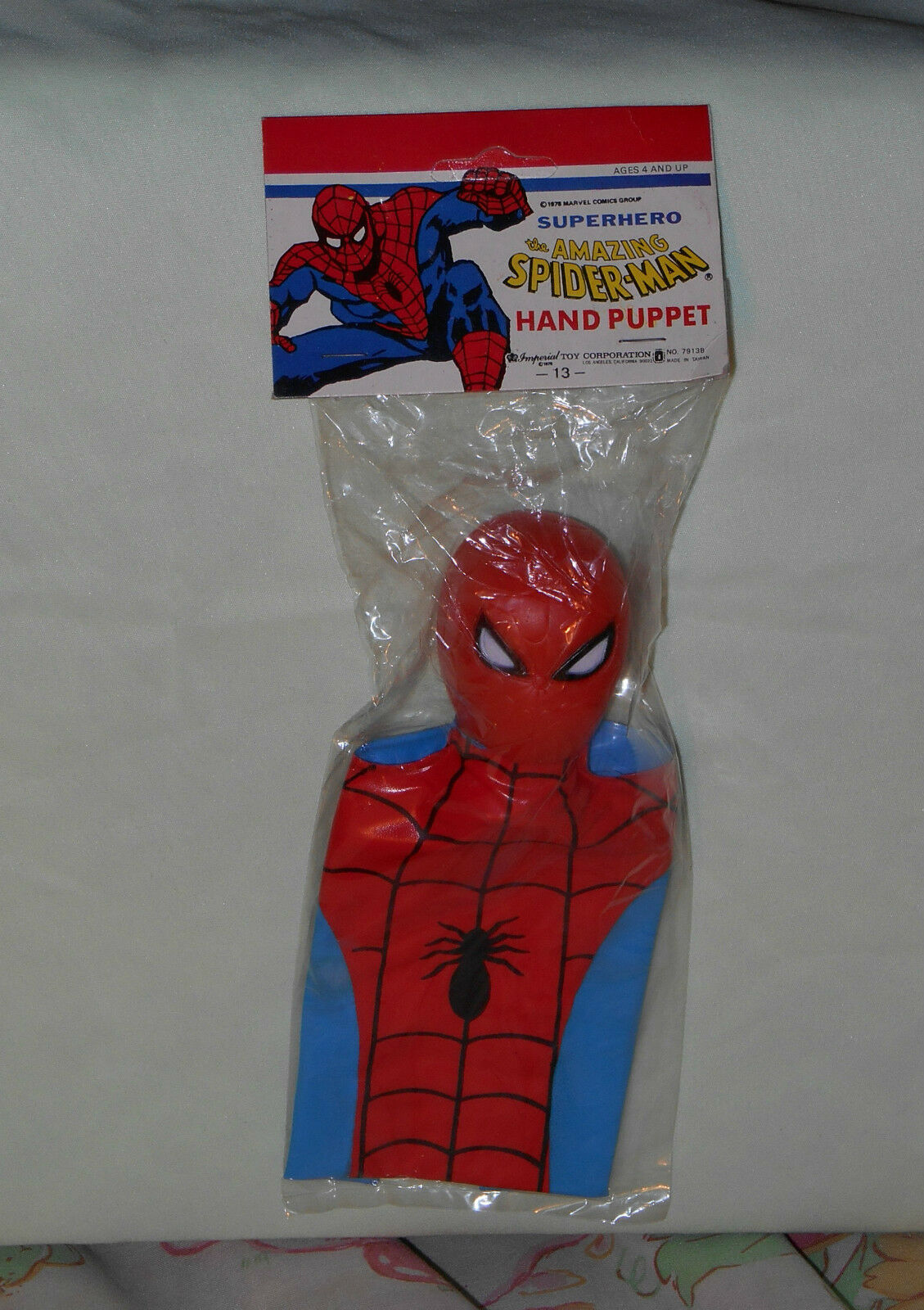 Marvel - superhelden the amazing spiderman - jahrgang imperial hand marionette mip versiegelt