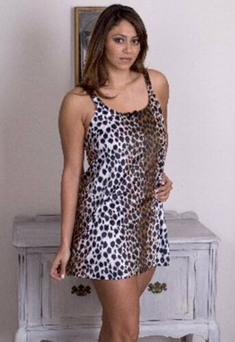 Plus Size Lingerie Babydoll Leopard 2x 4x Chemise Queen Polyester Animal