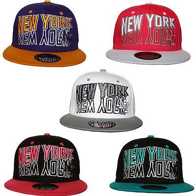 Specchio Giovanile Bambini Ny New York Snapback Piatto Picco Baseball Cap Hat Unisex-mostra Il Titolo Originale
