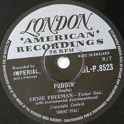 78 record in frame PUDDIN / RAUNCHY eddie freeman