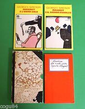 Georges Simenon Cofanetto - 1^ Ed. Mondadori 1977 - Gialli Oscar Mondadori