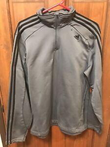 mezcla Retencion El diseño  Adidas Pullover Men's 1/4 Zip Up Jacket RN# 88387 CA#40312 Size L ...