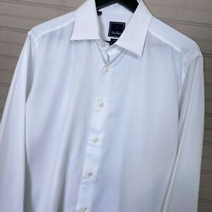 David-Donahue-Trim-Fit-French-Cuff-Dress-Shirt-White-Basketweave-Men-s-17-36-37