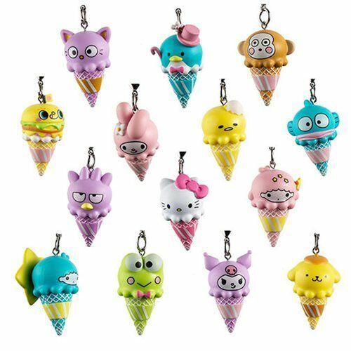 2//24 Ice Cream Blind Box Keychain Kitty Kidrobot Hello Sanrio NEW My Melody