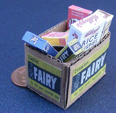 1:12 Scale Full Cardboard Colmans Grocery Box Tumdee Dolls House Kitchen Food