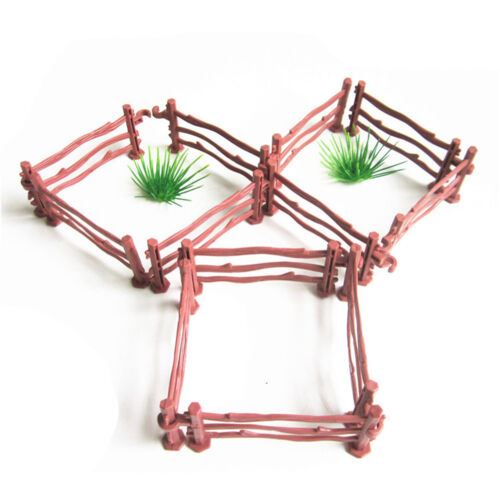 10XKids Military Sand Scene Toy Accessories Mini Simulation Double Hook Fence DP