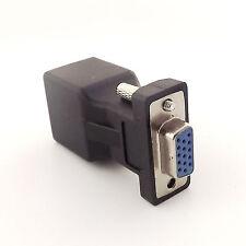 RJ45 Female to DB15 Serial VGA Female Network Cable Converter Extender Adapter