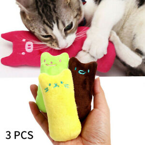 3-Cat-Pillow-Interactive-Fancy-Catnip-Pets-Teeth-Grinding-Claws-Funny-Toys-W8H