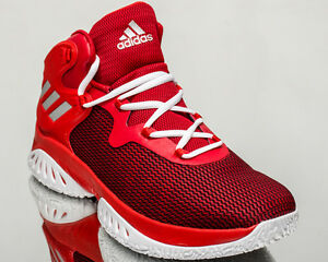 new style 96e68 04fff Image is loading adidas-Explosive-Bounce-men-basketball-shoes-red-BY3777