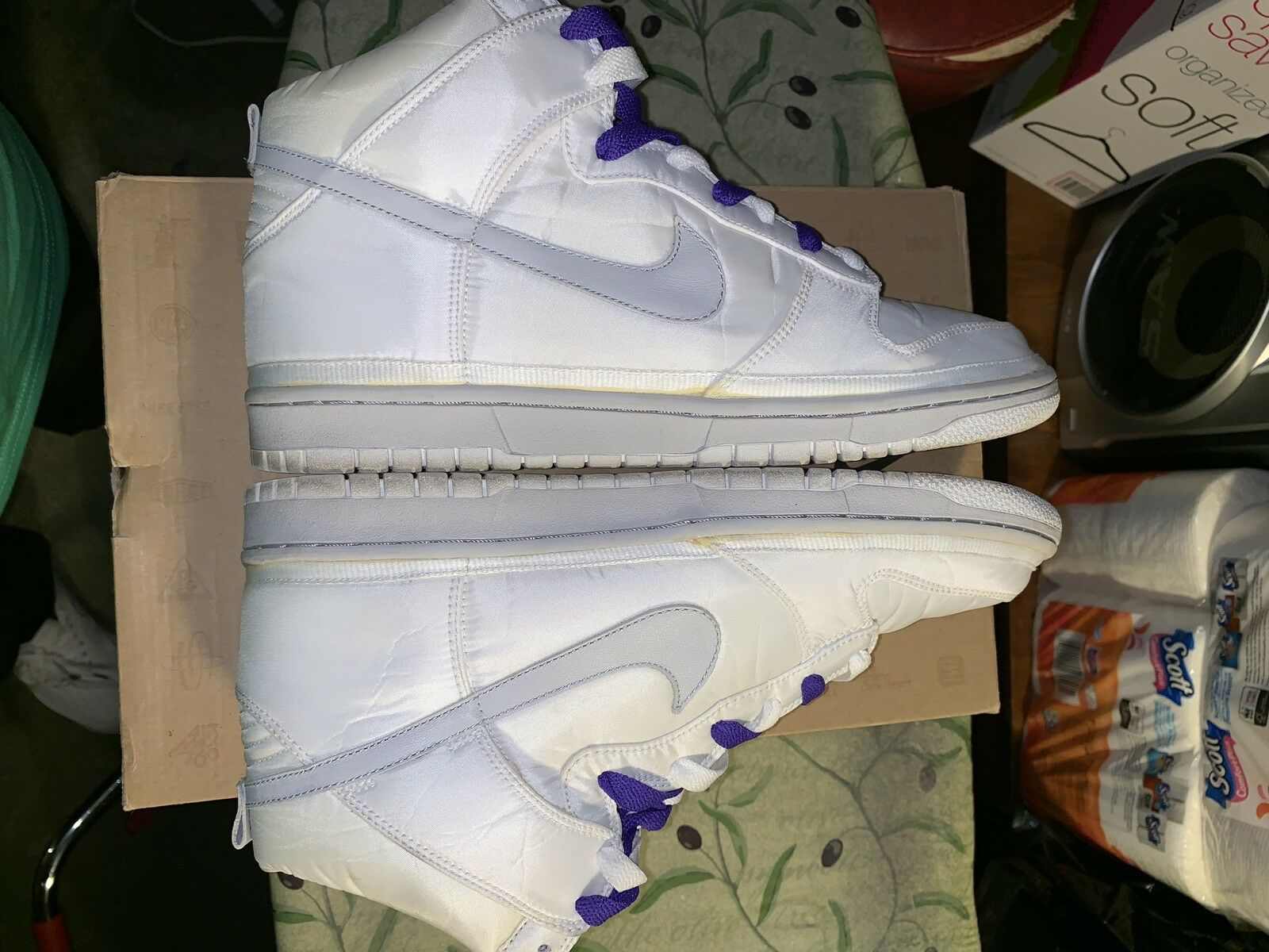 Nike Dunk Hi Vandal Premium Nylon Neutral Grey Men Size 10.5 354713-101