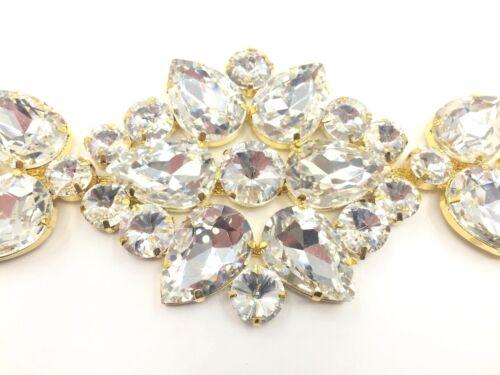 Diamante beau mariage mariée appliques coudre sur Motif Craft Patch Appliqu