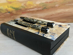 MONTBLANC-Writers-Limited-Edition-Oscar-Wilde-Pencil-and-Ballpoint-Pen-Set-MINT