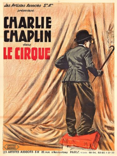4643.charlie chaplin.le cirque.les artistes associe.POSTER.decor Home Office art