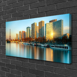 Leinwand-Bilder Wandbild Leinwandbild 140x70 Stadt Gebäude