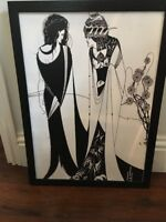 Aubrey Beardsley, Salome with her mother Large Screen Print