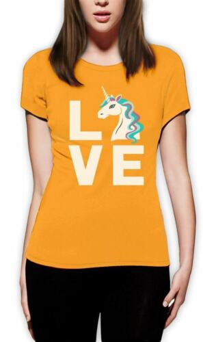 I Love Unicorni-MAGICO MITICO IDEA REGALO DONNA T-SHIRT UNICORNO amanti