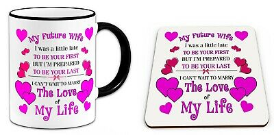 My Future Wife I Was A little Late To Be Your First    Mug & Coaster Set-  BLACK | eBay