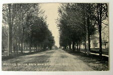 1912 POSTCARD RESIDENTIAL STREET SOUTH MAIN STREET WAYLAND MICHIGAN MI #43re4
