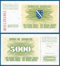 BOSNIEN H. / BOSNIA H. 5000 Dinara 1993  UNC  P. 16