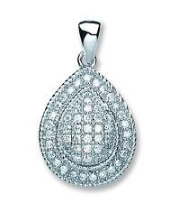 Ruby Round Silver Necklace Sparkling Gemset Pendant 925 Hallmark