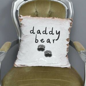 Daddy Bear Mermaid Sequin Cushion   Fathers Day Gifts   New Dad ...