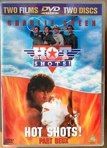 Hot-Shots-1-2-Partie-Deux-DVD-Coffret-Parodie-Comedie-Film-Classique-Double-Bill