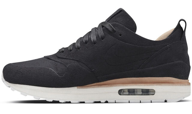 815a2b4ea0 Nike Lab Air Max 1 Royal Black White Suede Men Classic Shoes ...
