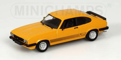 FORD  CAPRI III - 1979 - Orange 400082224 Minichamps 1 43 nouveau in a box  RARE  font des activités d'escompte
