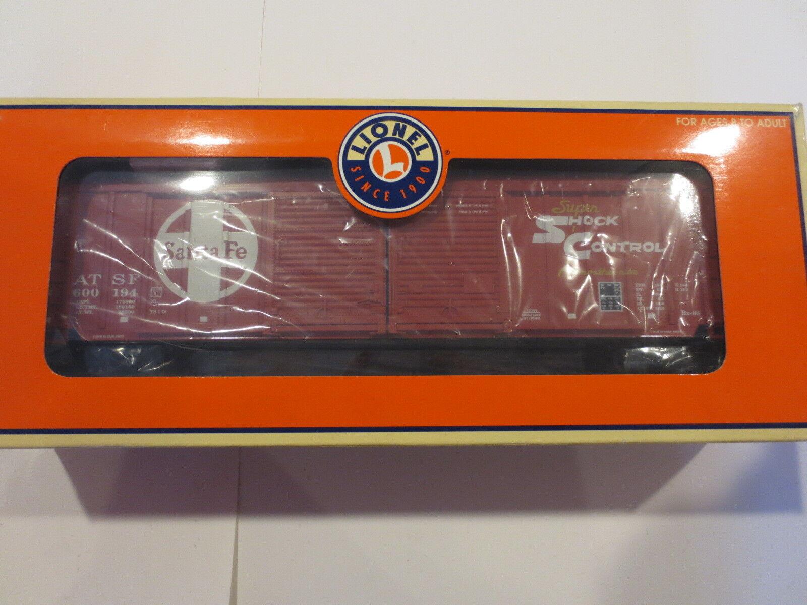 Lionel Santa Fe Double Door Box Car with Auto Frames Item Boxed Unrun