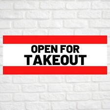 Open For Takeout Advertising Vinyl Banner Flag Sign Many Sizes Available