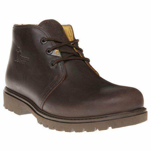 New Mens Panama Jack braun Basic Leather Stiefel Chukka Lace Up