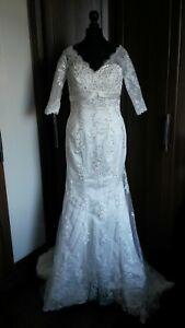 Mermaid-Trumpet-style-wedding-dress-size-6-10-BNWOT-ivory