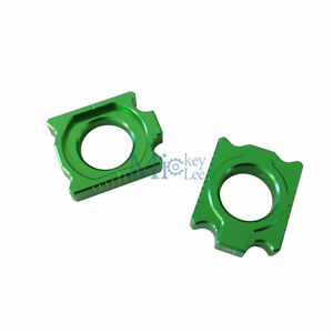 CNC-Chain-Adjuster-Rear-Axle-Block-Kit-For-Kawasaki-KX450F-2006-2015-Motor-Part