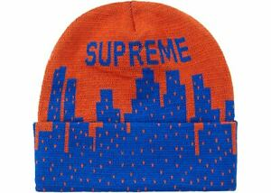 Supreme-New-York-Beanie-Dark-Orange-Blue-SS20-NY-Mets-Knicks