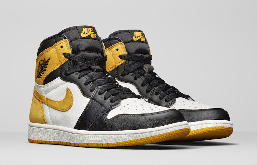 Nike Air Jordan 1 Retro High OG Ochre Yellow Comfortable New shoes for men and women, limited time discount