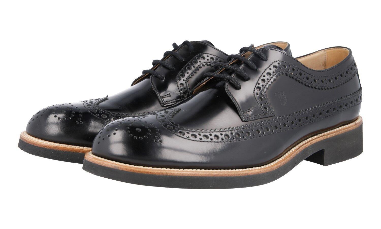 TOD'S DERBY WINGTIP BROGUE scarpe XXM0OX00C11AKT9999 nero US 9.5 EU 42,5 43