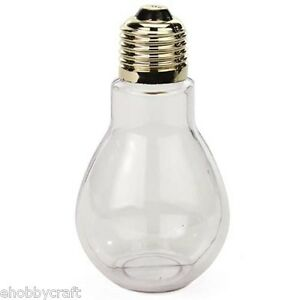24 clear plastic fillable light bulbs 4 inch great for