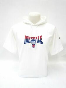 Lonsdale-Hoody-T-Shirt-Luke-Weiss-Mit-Kapuze-Fuer-Herren-5166