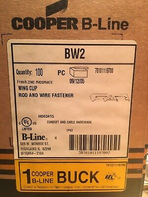 """WING CLIP 100 PACK 1//4/"""", COOPER B-LINE BW2 ROD /& WIRE FASTENER"""