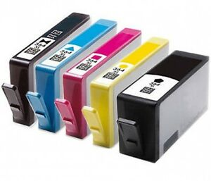 5 chipped ink cartridge 364xl for hp 5520 5524 6510 6520. Black Bedroom Furniture Sets. Home Design Ideas