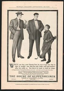 1904-KUPPENHEIMER-Men-039-s-Fashion-Vintage-Clothing-AD-Boy-Golf-Caddy-Outing-Suit