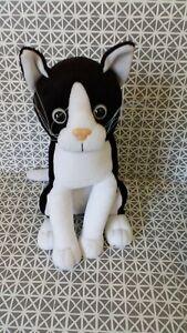 Peluche doudou publicitaire Felix le chat noir et blanc 25 cm assis