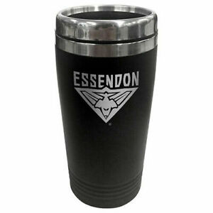 AFL-Coffee-Travel-Mug-Essendon-Bombers-Thermal-Drink-Cup-With-Lid-BNWT