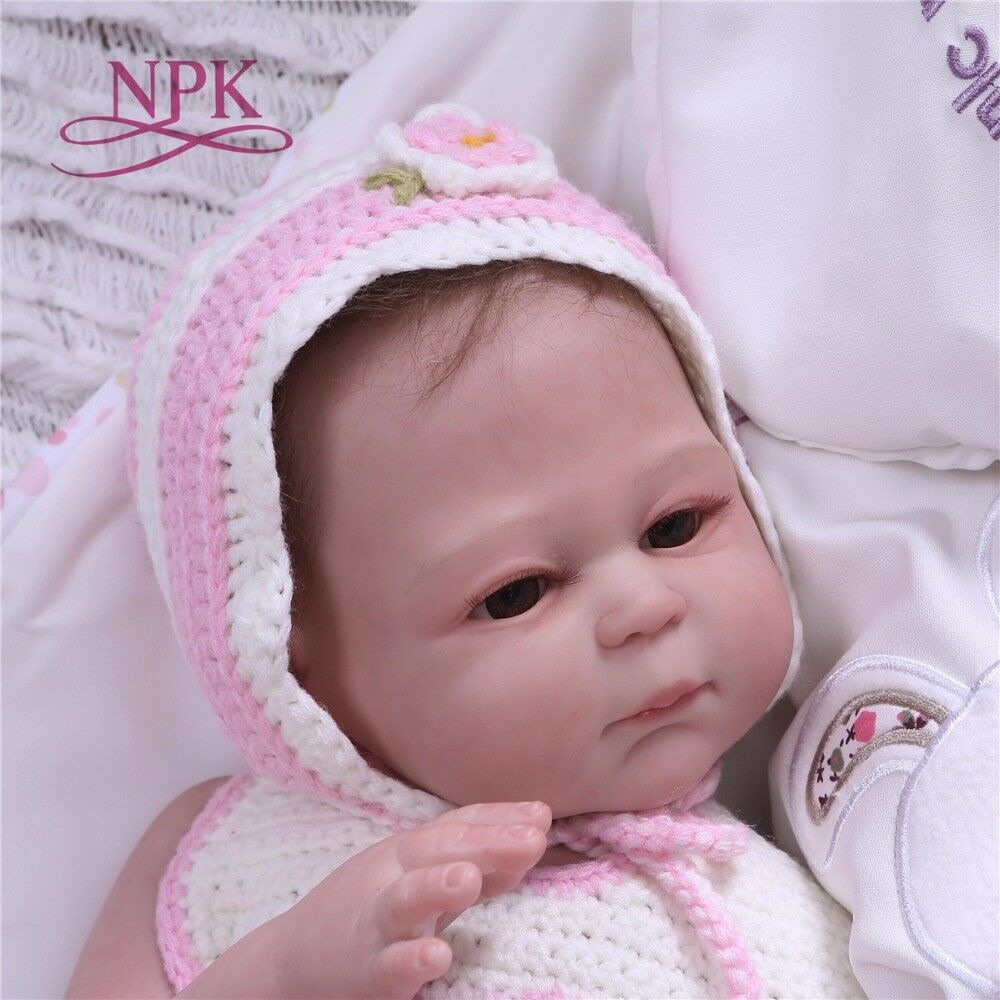 Reborn Girl Baby Dolls Full Body Vinyl Silicone Newborn Touch Real 20'' Bath Toy
