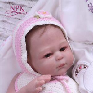 ca9aa20d004 20   Full Body Vinyl Silicone Reborn Girl Baby Dolls Newborn Touch ...