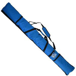 Padded-Ski-Bag-195cm-NEW-Quality-Design-Blue-Snow-Ski-Travel-Bag