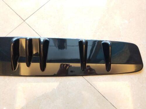"33/"" x5/"" Shark Fin Universal Rear Bumper Lip Diffuser 7 Fin Gloss Black ABS"