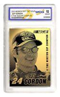 2003 Jeff Gordon 4-time Nascar Champion 23k Gold Card - Gem-mint 10 Lot Of 5