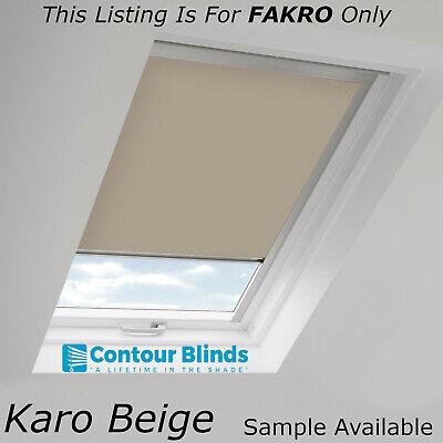 Blackout Roller Roof Blinds for FAKRO code skylight Windows 8 Colours