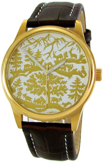 AureA swiss made Uhr Motiv Scherenschnitt scissor cuts paper cutting watch 37mm